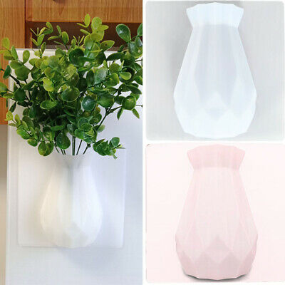 Modern Minimalist Wall Mounted Paste Home Decor Silicone Vases Office Stick On