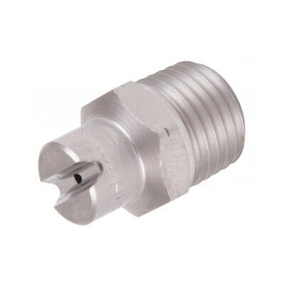 "1/4"" Male Stainless Steel High Pressure Jet Washer Nozzle 15° Angle Spray 02-10"