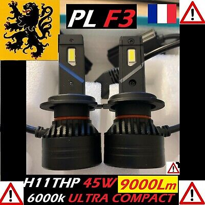 Kit PREMIUM LED H11 H8 H9 HP 45W 12V 6000k 2x7500lm CSP ANTIERREUR ULTRA COMPACT