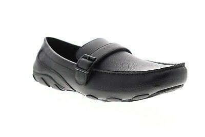 Unlisted by Kenneth Cole String Along UMS9034UO Mens Black Loafers Shoes