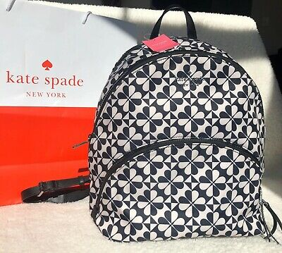 Kate Spade New York Karissa Petrlbl Spade Clover Geo Large Backpack Authentic