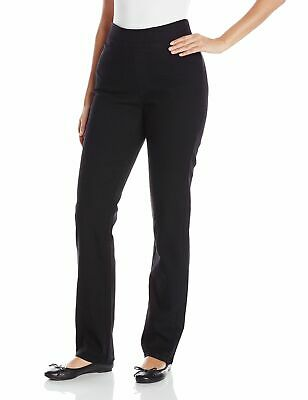 Chic Classic Collection Black Womens Size 18P Plus Petite Pull On Pants $40 890