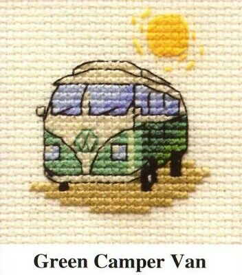 "Volkswagen Camper Van Purple Cross Stitch Kit 10/""x 7.5/"""