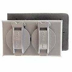 Bell Outdoor 5180-0 Grey Single Gang Weatherproof Duplex Box  Industrial, Modern