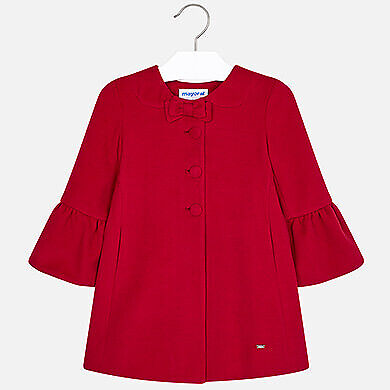 New Mayoral Red Fully Lined Girls Coat Spanish Style rrp £59.50