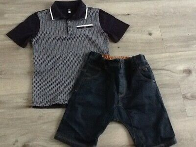 River Island Next Boys Lovely Small Summer Bundle / Outfit 7-8Yrs Top Shorts
