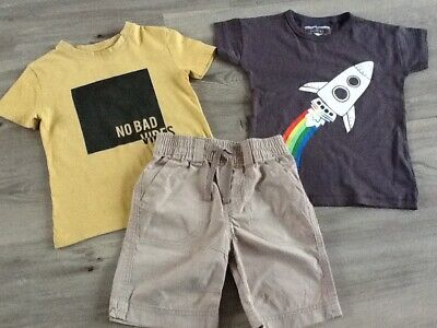 River Island  Next Boys Lovely Small Summer Bundle / Outfit 2-3Yrs Tops Shorts
