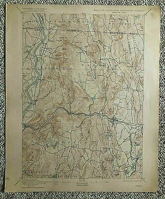 1915 Geological Survey Topographic Map Mass Warwick Northfield Wendell & Others