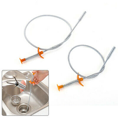 1x Hand Sink Cleaning Hook Sewer Spring Pipe Hair Removal Dredging Kitchen Tools