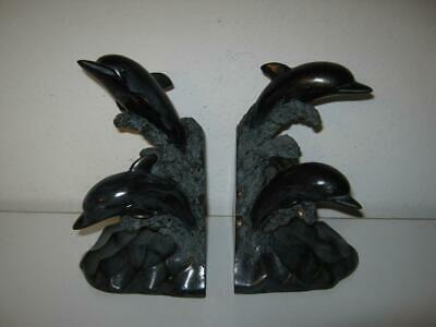 Judith Edwards Designs-Dolphin Bookends-Free Ship-New-In-Box