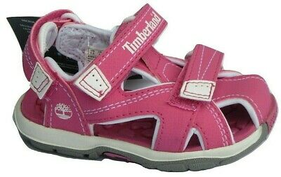 Infants Girls Toddlers Childrens Timberland Pink Sandals Summer Holiday Beach