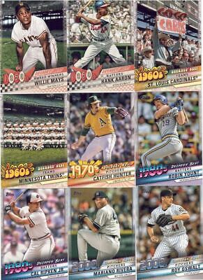 2020 Topps Series 1 Decades Best Inserts! You Pick & Choose! Free Shipping!