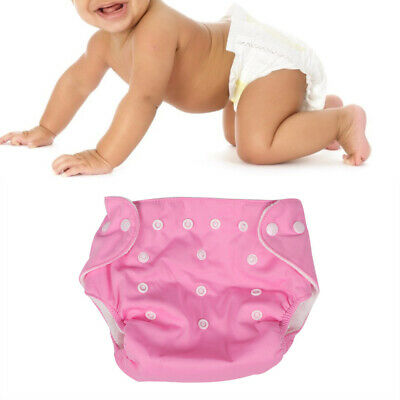 Washable Comfort Baby Pocket Nappy Cloth Reusable Diaper for 0-2 Years Old Pink