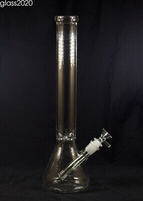 "15"" Hookah Shisha Water Pipe Bong Smoking Beaker Glass Bongs with Ice Catcher"