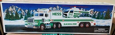 9 1995 Hess Toy Truck and Helicopters (UNOPENED!!)