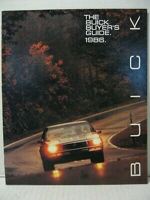 1986 Buick Full Line Buyer's Guide Car Dealer Sales Brochure Catalog