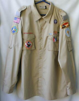"""Boy Scouts Past President Shirt Men's XXL """"Be Prepared"""" Pins Patches Awards BSA"""
