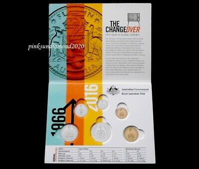Australia 2016 Changeover Push In Type Six Coin Mint Set  ( Empty Folder )