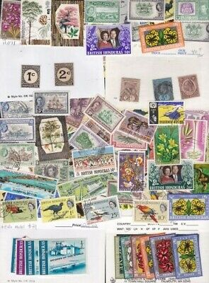 British Honduras Beautiful Collection from Old Dealer's Stock Mint/Used  *SALE*
