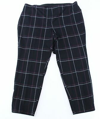 Alfani Womens Pants Black Size 22W Plus Skinny Comfort-Waist Stretch $84- 270