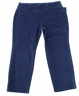 Charter Club Womens Pants Blue Size 18W Plus Denim Slim Pull-On Stretch $69 230
