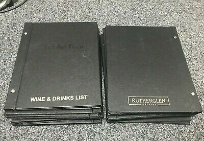 22 x A4 Black restaurant cafe menu embossed cover-