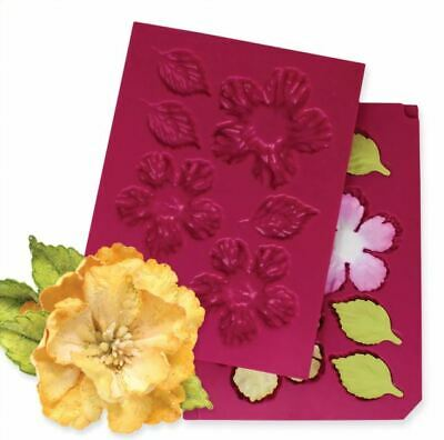 Heartfelt Creations Tool 3D Wild Rose Shaping Mold - Large Flowers Leaves