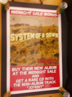 PRINT IMAGE PHOTO -PW0 SYSTEM OF A DOWN SOAD CLOCK POSTER RARE NEW 24X36