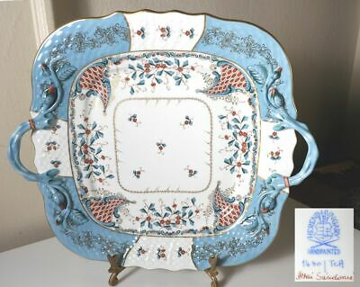 Herend CORNUCOPIA Handled Cake Serving Plate, MINT Condition