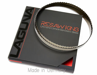 """1"""" X 12-14-16mm Vari Tooth Pitch X 138"""" Resaw King Carbide Tipped Bandsaw Blade"""