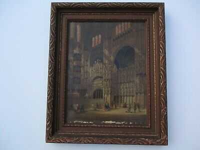 Henri Schafer  Oil Painting Antique 19Th Century Icon Master Masterful Church