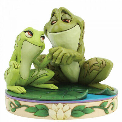 Disney Traditions Tiana Amorous Amphibians Frogs Figurine 6005960 New & Boxed