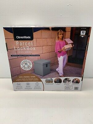CleverMade Parcel Lock Box S100 Series - Package Theft/Weatherproof Protection