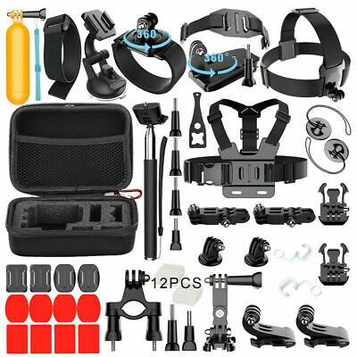 50 in 1 Sports Outdoor Camera Accessories Kit for GoPro Cameras Video Cam Parts