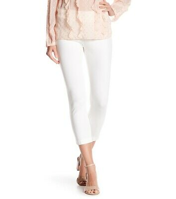 Ilusion Womens Pants True White Ivory Size 6 Stretch Mid-Rise Solid $108 804