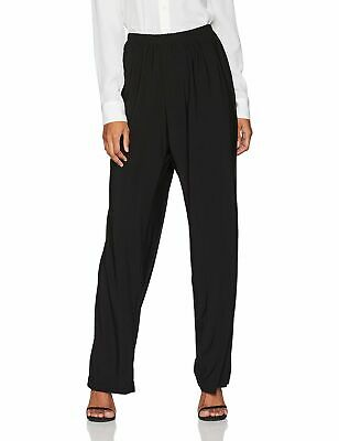 R&M Richards Womens Pants Deep Black Size 14 Pull-On Solid Stretch $99- 132