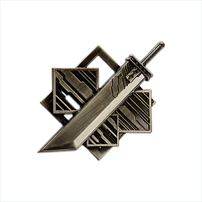 FINAL FANTASY VII REMAKE Pin Badge  D-1 Memorial Square Enix