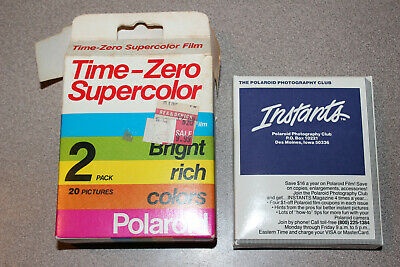 Sealed Polaroid Time-Zero Supercolor 1 Pack  SX-70 Land Film Exp. 02/88