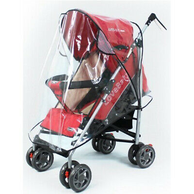 Universal Clear Buggy Baby Pushchair Stroller Pram Transparent Rain Cover W3C6S