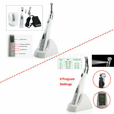 CICADA Dental Wireless 16:1 Reciprocating Endo Motor Contra Angle 9 Setting Mode