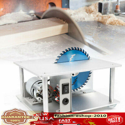 Mini Table Bench Saw Blade Home Woodworking DIY Bench Cutting Machine 5000RPM US