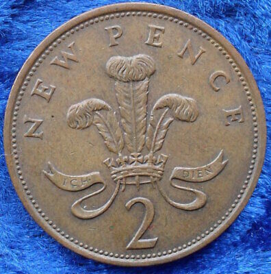 UK - 2 new pence 1981 KM# 916 Elizabeth II Decimal Coinage - Edelweiss Coins .