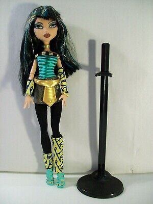 "Monster High Cleo De Nile Schools Out 10"" Doll With Stand"