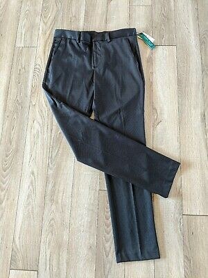 NWT $85 Perry Ellis Protfolio Men's Sz 32x32 Pants Very Slim Travel Luxe Black