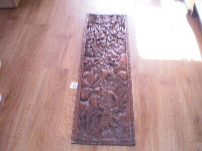 Highly Carved Wooden Panel