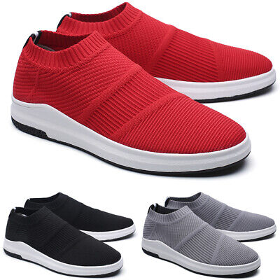Mens Mesh Running Jogging Trainers Athletic Slip On Walking Gym Shoes Sport Size
