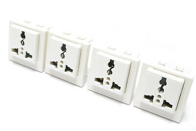 Wonpro R4T Universal Electrical Receptacle w/Panel Face, 250VAC 20 Amps, 4pcs