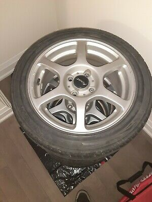 4 kankook summer tires with alluminum rimms