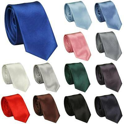 Skinny Neck Tie Mens Classic Solid Casual Plain Slim Suit Wedding Prom Party New