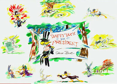 Chuck Jones Daffy for President Giclee Print Warner Bros Limited Edition of 100